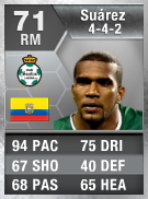 Christian Suarez 71 - FIFA 13 Ultimate Team Card - FUT 13