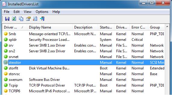 vedere elenco driver installai sul computer windows
