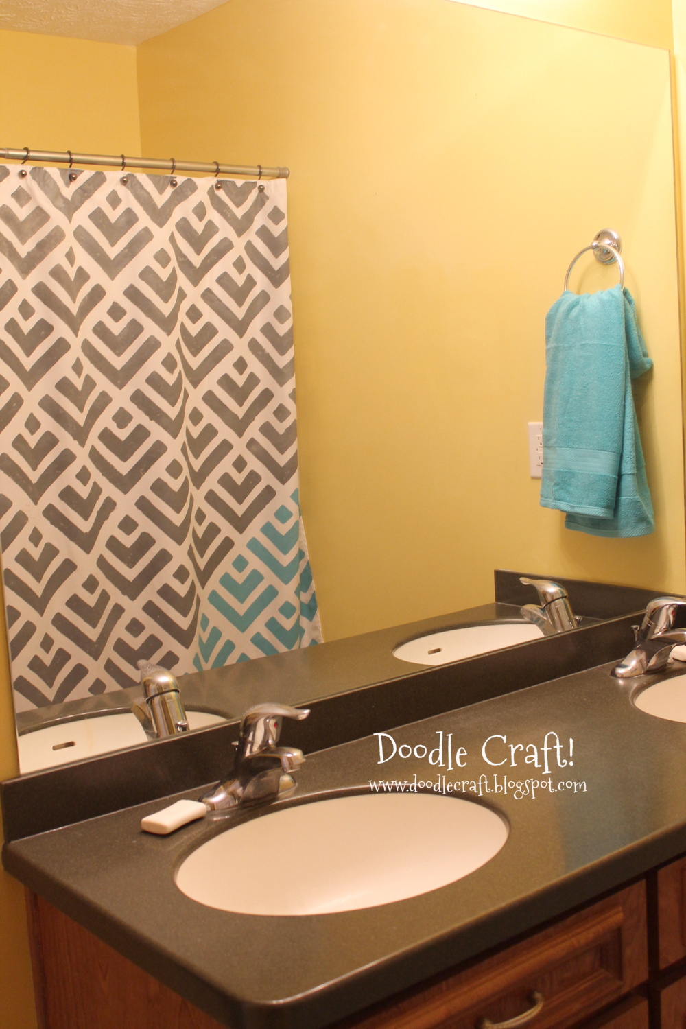 doodlecraft stencil a shower curtain with cutting edge stencils and a give away. Black Bedroom Furniture Sets. Home Design Ideas