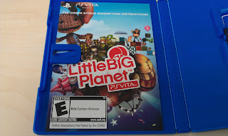 LittleBigPlanet PS Vita Bonus Redemption Instruction