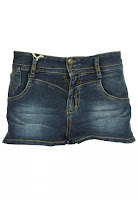 Pantaloni scurti Pull and Bear Heigh Dark Blue (Pull and Bear)