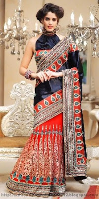 Indian-Bridal-Party-Wear-Sarees
