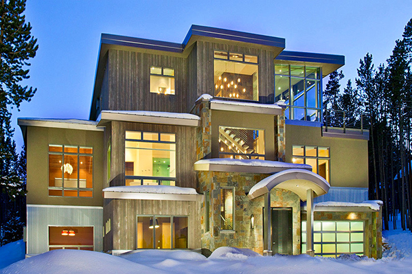 Beautiful weekend house in colorado mountains most for Modern home design usa