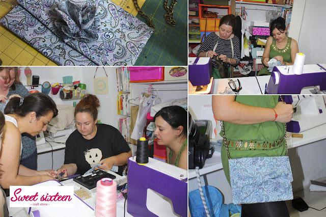 Taller Realización Bolso de mano, Sweet sixteen craft store. Madrid