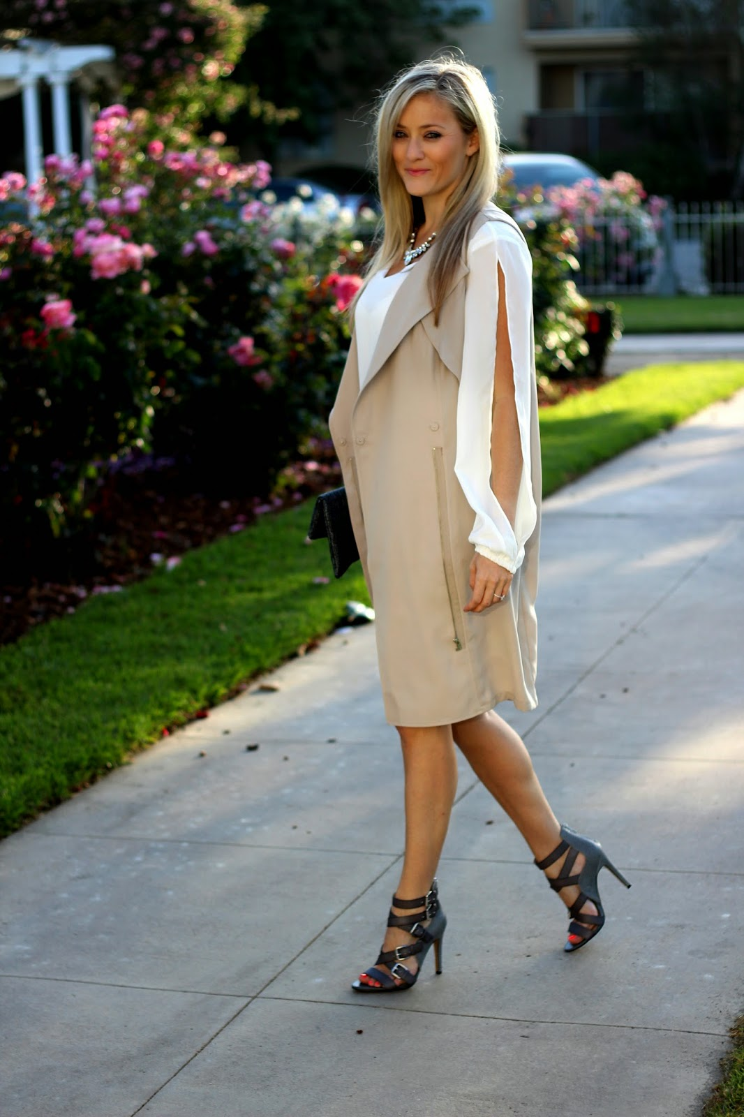 Trench Vest, Trench Coat, Dress, Sole Society, Neutral Outfit