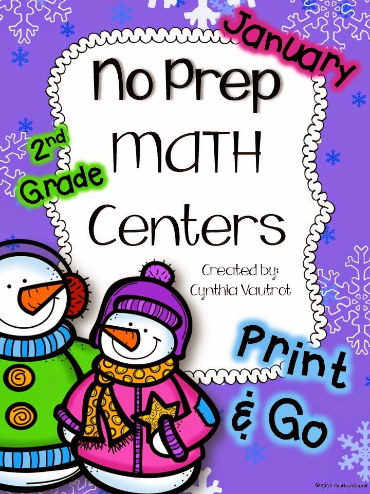 http://www.teacherspayteachers.com/Product/No-Prep-MATH-Centers-for-January-2nd-Grade-1611208