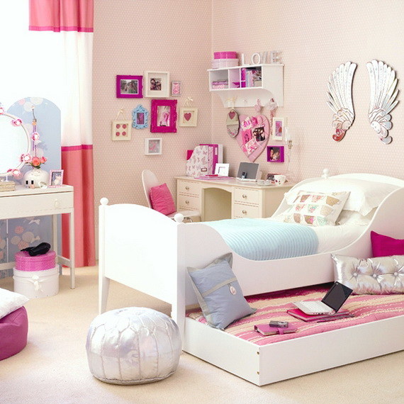 Sabaia styles girls bedroom decorating ideas for Bedroom furnishing ideas