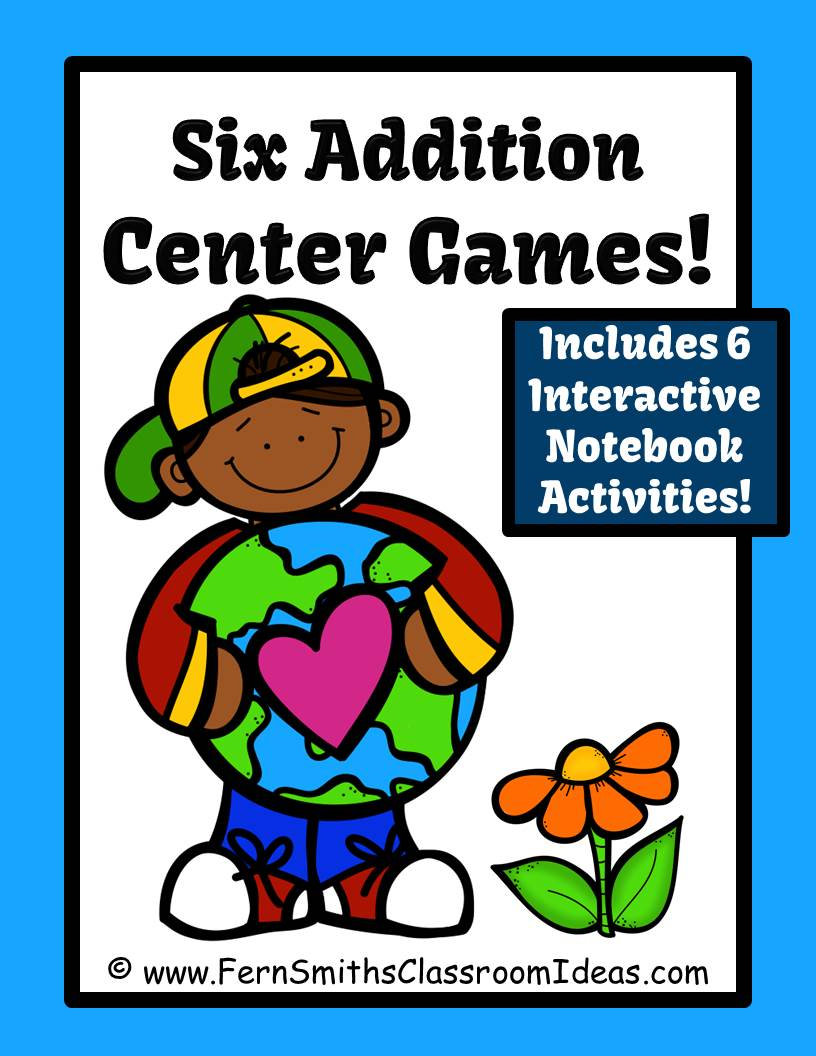 Fern Smith's Earth Day Addition Centers, Printable Seatwork Centers and Foldables