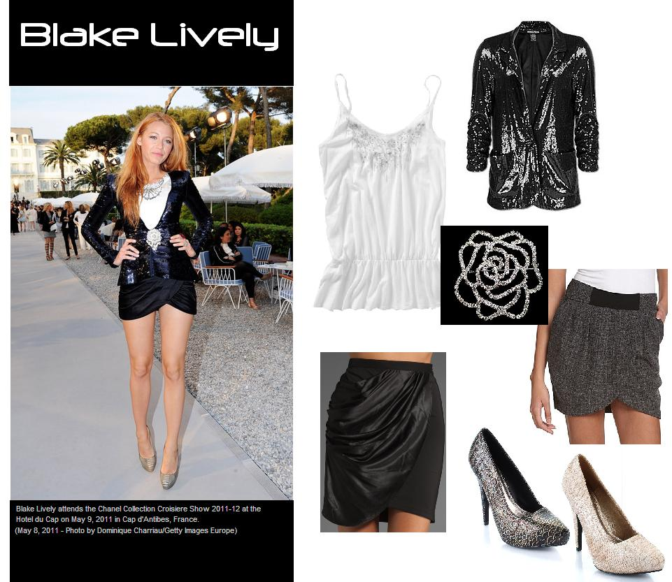 Celebrity look for less blake lively in stunning sequined jacket