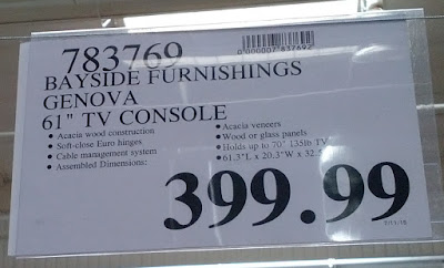 Deal for the Bayside Furnishings Genova TV Console at Costco