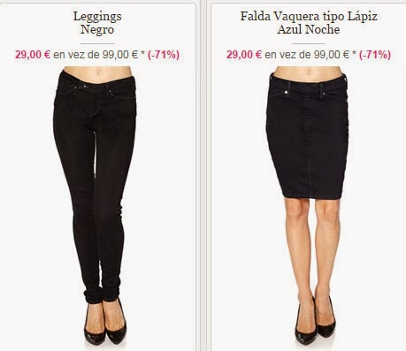 También tienes en la misma oferta estos Leggings y falda vaquera