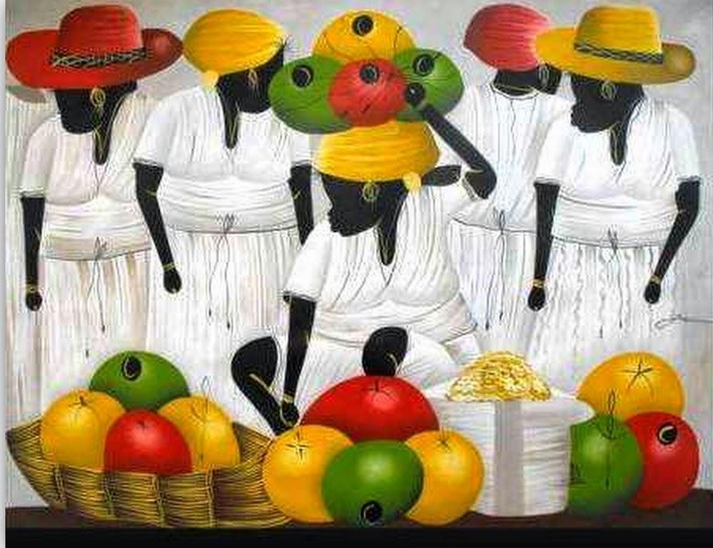 Pinturas de africanas cuadros figurativos africanas - Cuadro decorativos modernos ...