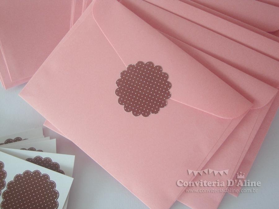 cha de fraldas rosa e marrom