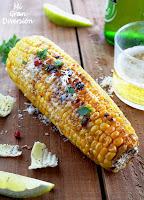 Mazorcas de maíz a la brasa con parmesano