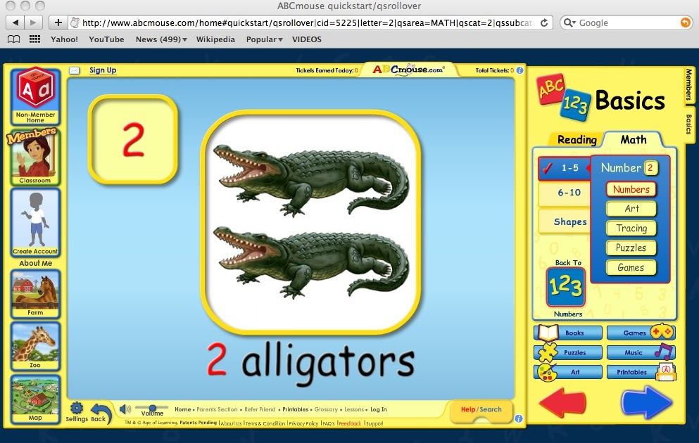 Educational reviews: ABC Mouse - Math section