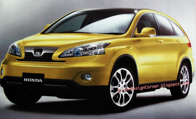 2012 Honda CRV Sketch yellow
