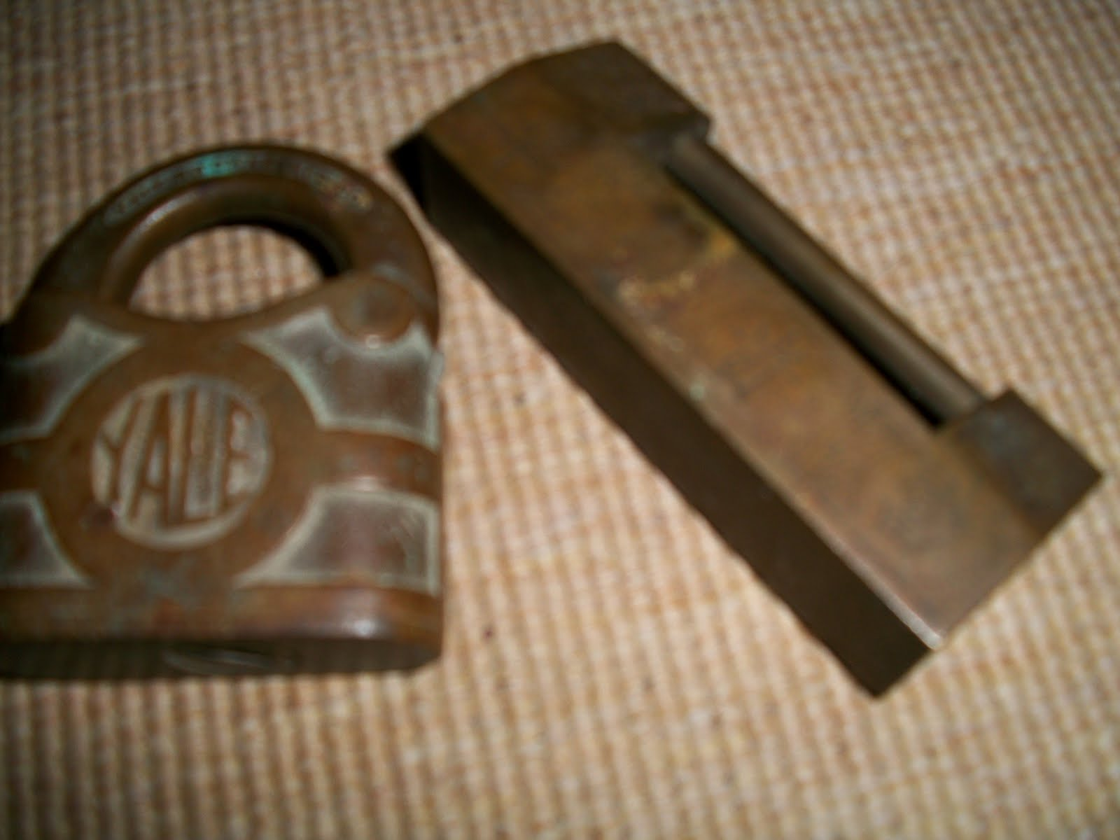 collectible items 2 vintage padlock yale and unknown
