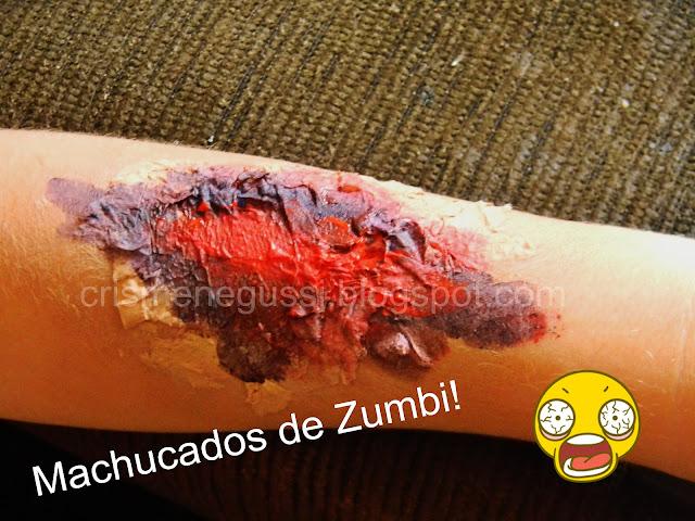 maquiagem de machucado