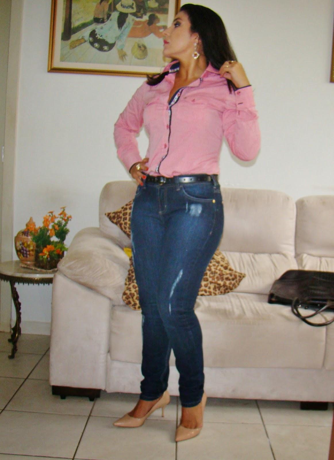 Camisa Social + Calça Jeans