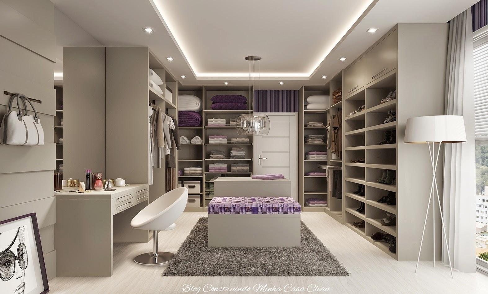 Closet super moderno e amplo! Detalhe de uma única porta separando de  #392F28 1574 950