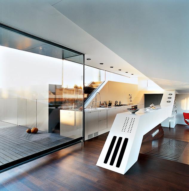 Futuristisches Penthouse und Design mitten in Wien