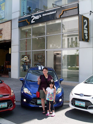 Outside 2nd's Restaurant with the Ford Fiesta