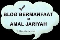 Blog Bermanfaat = Amal Jariyah