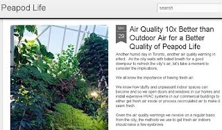 Peapod Life: Air Quality 10x Better than Outdoor Air for a Better Quality of Peapod Life, screenshot, credit: greenaddition.blogspot.ca