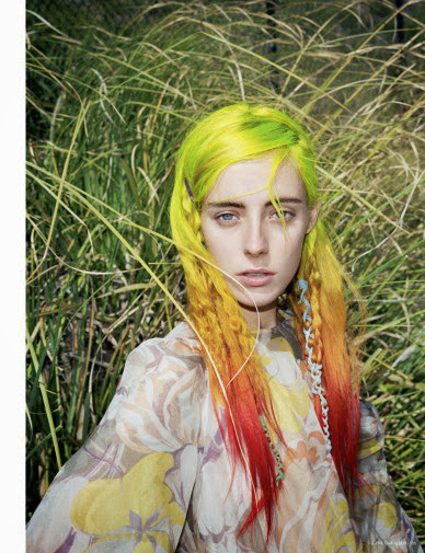 colored hair, rainbow hair, flower, dries van noten, mini pony hair, my little pony hair