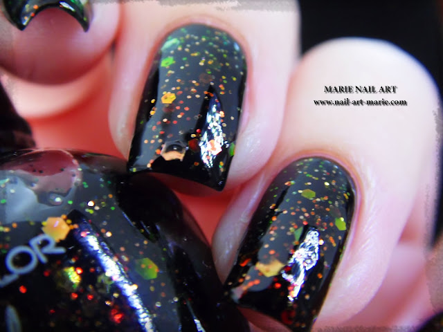 Kleancolor Chunky Holo Black3