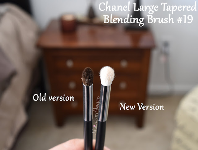 Chanel 19 Large Tapered Blending Brush Review White Bristles