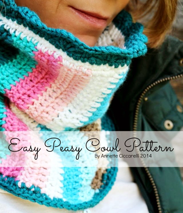 My Rose Valley Free Pattern The Easy Peasy Cowl