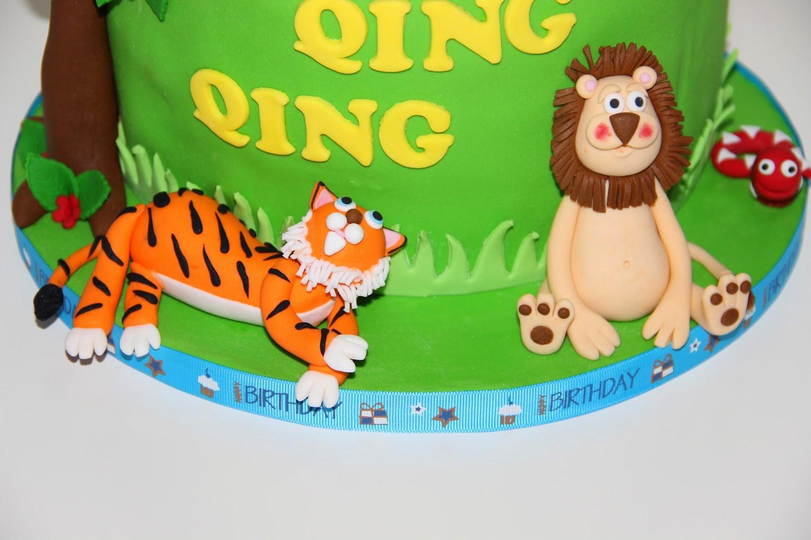 Birthday Cakes Jungle Theme ~ Temptations jungle theme cake