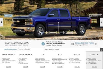 2014 Chevrolet Silverado tows in new configurator, microsite