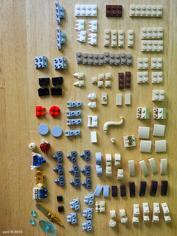 lego chima legend beast lion - knolling the living daylights out of this thing