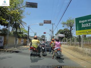 Semáforo em antigo cruzamento perigoso.