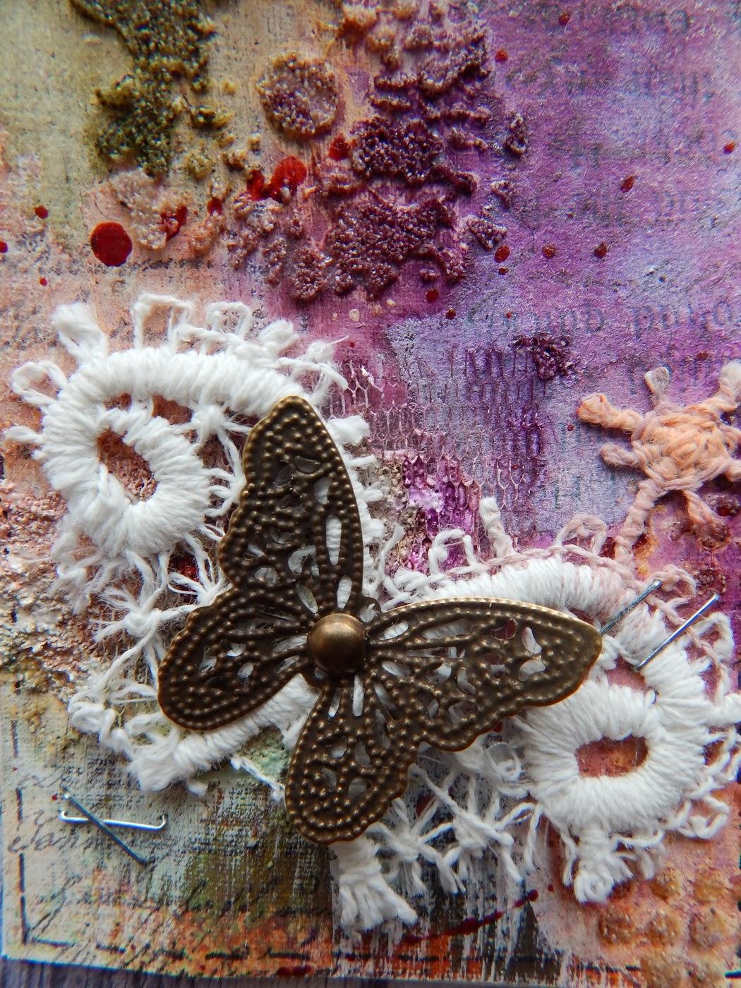 АТС? бабочки,   mixed-media