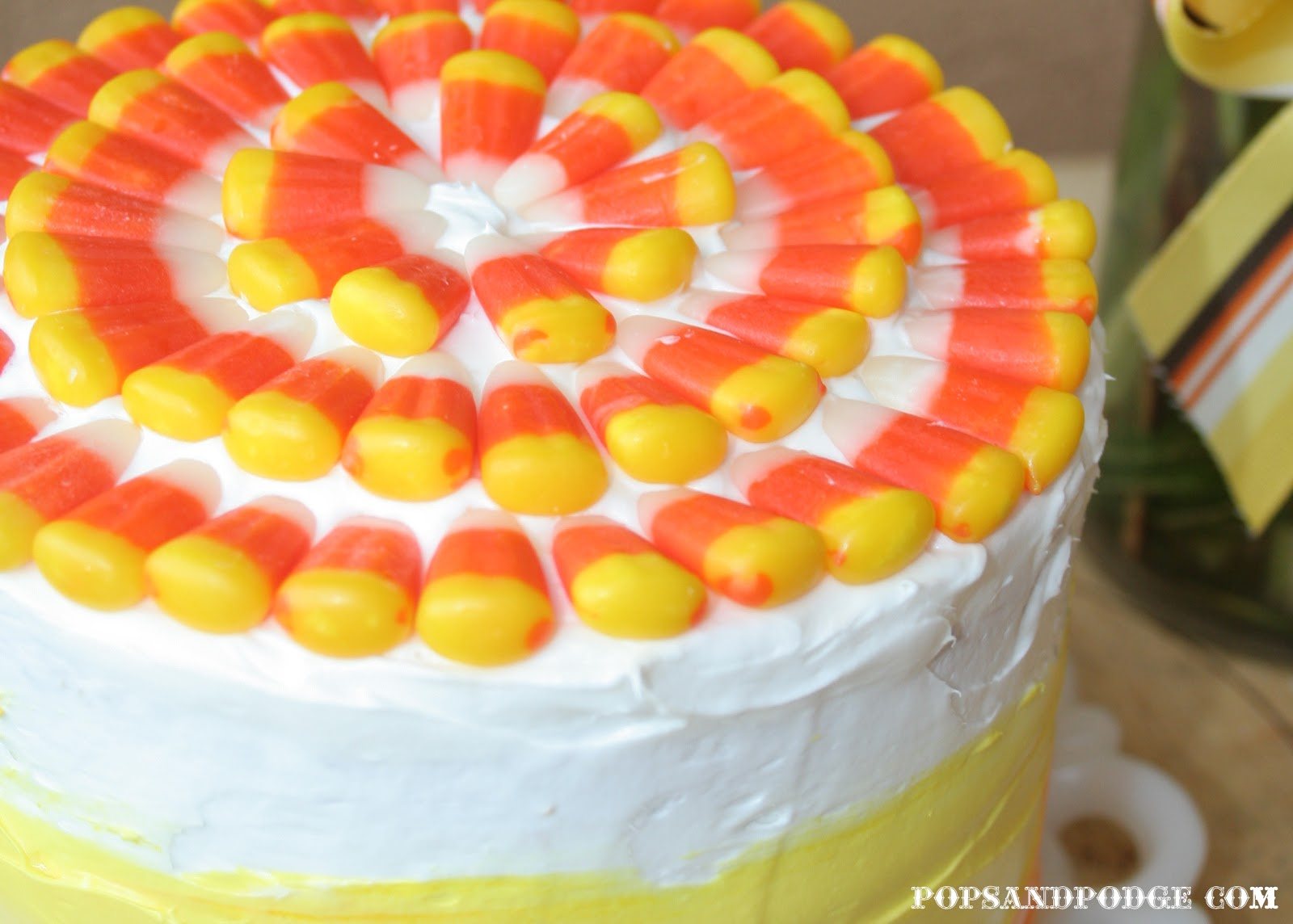 Pops And Podge Candy Corn Cake Happy Halloween