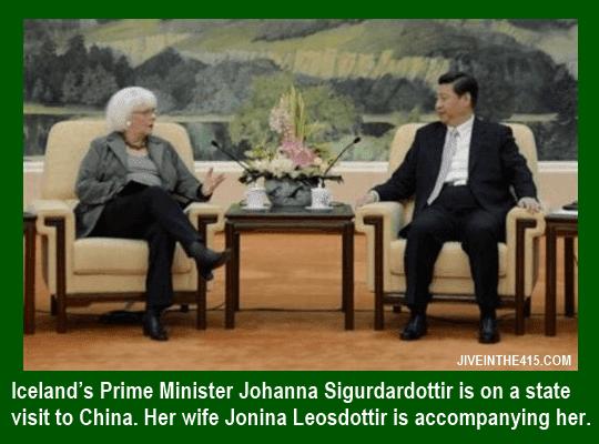 Iceland's Prime Minister Johanna Sigurdardottir meets Chinese premier Li Keqiang