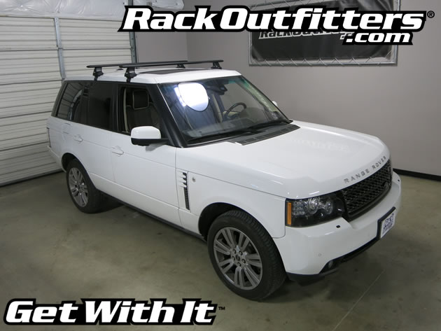 Land Rover Range Rover Thule Rapid Traverse Black Aeroblade Base Roof Rack 03 12 Rack Outfitters