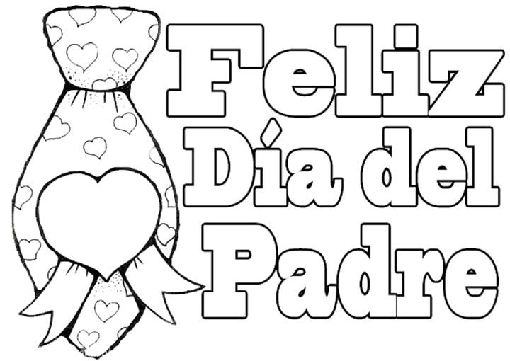 Dibujos para colorear del Día del Padre ~ Dibujos para Niños