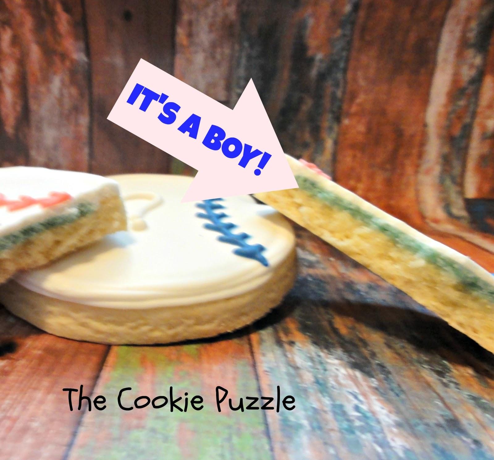 The Cookie Puzzle Gender Reveal Cookies