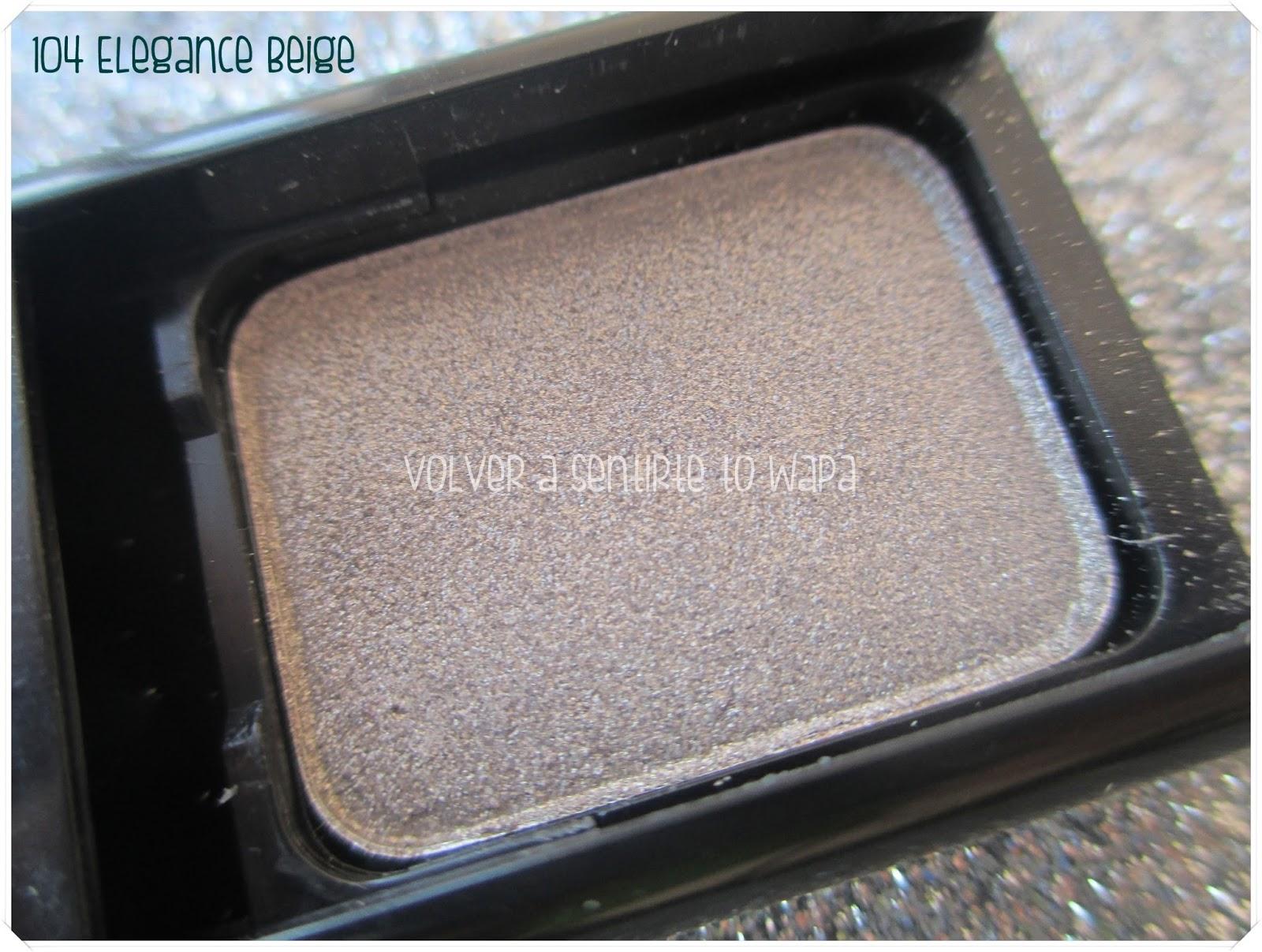 Pierre René - Single Eyeshadow {Review & Swatches & Maquillaje} - Sombra 104 Elegance Beige