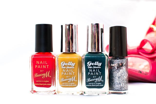 Barry M and No7 Festive Nail Polish Colours