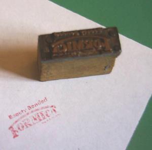 vintage formica samples stamp 50s 60s 1950 1960 atomic