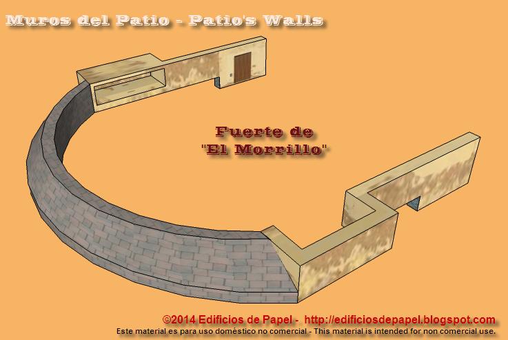 Fuerte de El Morrillo, muros del patio de armas