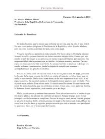 Maduro tiene quien le escriba... Patricia Morales