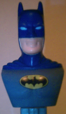 Close up of Batman Bust PEZ face