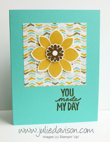 Stampin' Up! Petal Potpourri Card + Sale-a-bration Best Day Ever & Best Year Ever DSP #stampinup #occasions #saleabration www.juliedavison.com