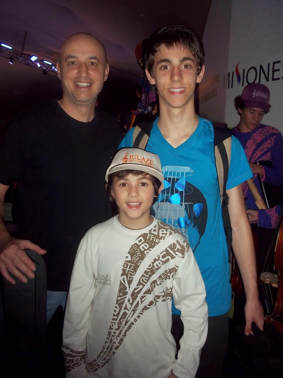 Lucas, Franco y Sergio Baldassini